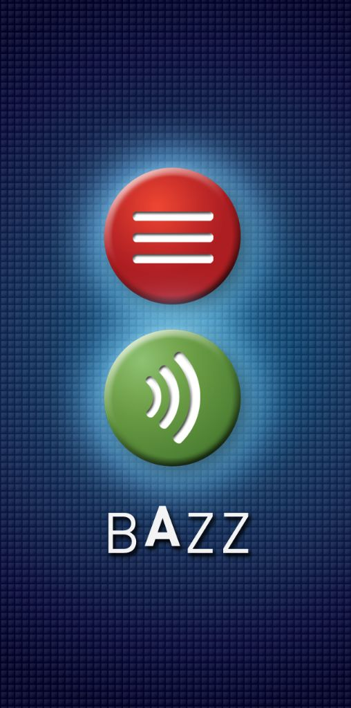 Bazz screen and logo